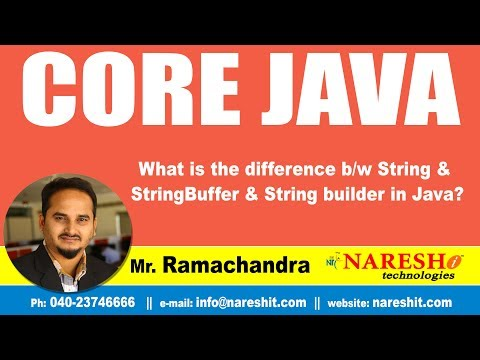 Core Java Tutorials | What is the difference b/w String & StringBuffer & String builder in Java?