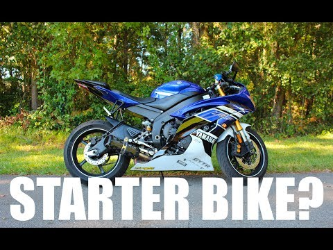STARTING ON A 600CC SPORT BIKE | BEGINNER MOTORCYCLE | 250CC | YAMAHA R6