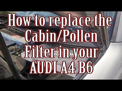 How to replace the pollen/cabin filter in your Audi A4 B6