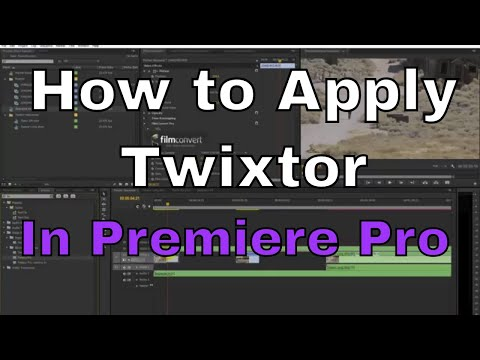 How to apply the Twixtor Effect in Premiere Pro
