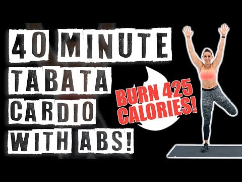 40 Minute Tabata Cardio Workout With Abs 🔥Burn 425 Calories! 🔥