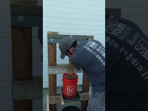 DIY reclaimed wood apple cider press