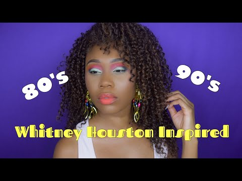80's Halloween Costume & Makeup Tutorial| Whitney Houston Inspired