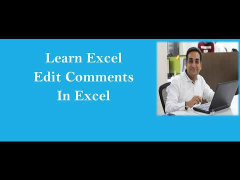 MS Excel : Edit Comment In Excel