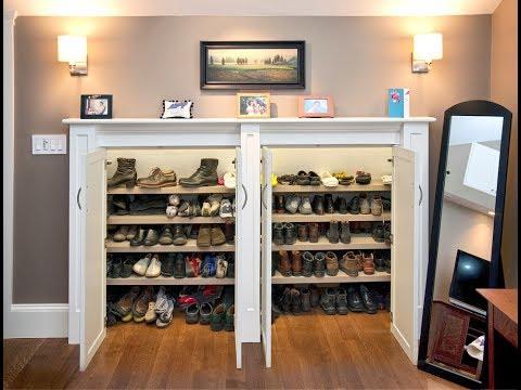 Shoe Storage Cabinet With Doors