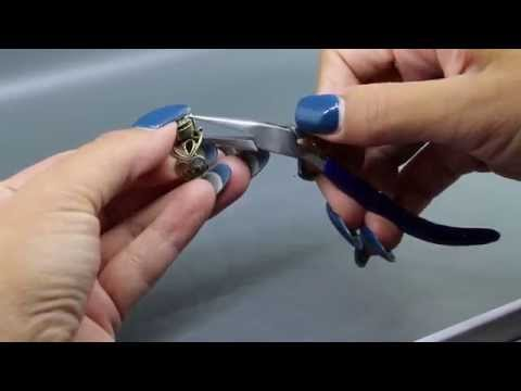 Clamping Prongs on a Jewelry Blank With Pliers