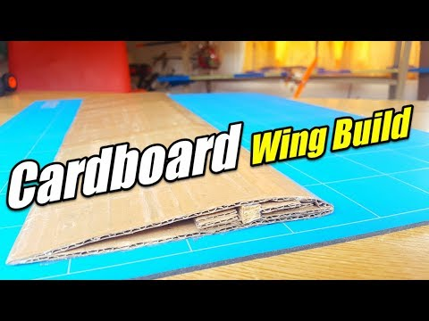 DEPRON WING BUILD WITH CARDBOARD How To Make a Rc Plane With Cardboard Homemade Airplane