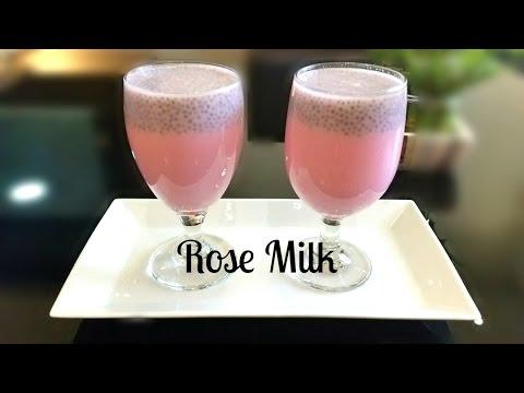 Rose Milk With Sabja(chia) Seeds|| Summer Refreshing Drink Recipe ||Moms Tasty Food