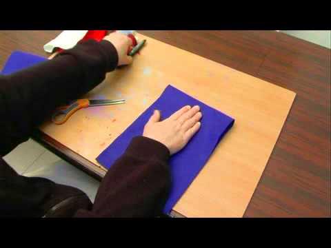 Hand Puppet: Cutting Felt