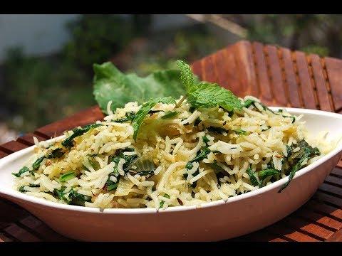 Palak pulao | Spinach pulav-Healthy greens & rice
