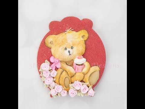 How to Create a Sweet Teddy Bear Cookie 🐾🐨🌹