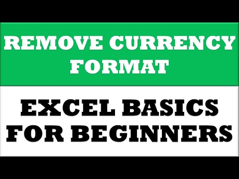 How to Remove Currency format in MS Excel 2016