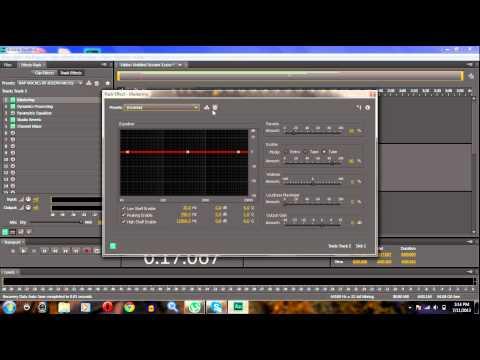 Professional Vocals on Adobe Audition Cs6 Pt.1