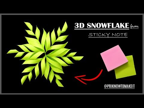 3D Snowflake - Paper snowflake - How to Make 3D Paper Snowflakes for Christmas decorations Part - 4