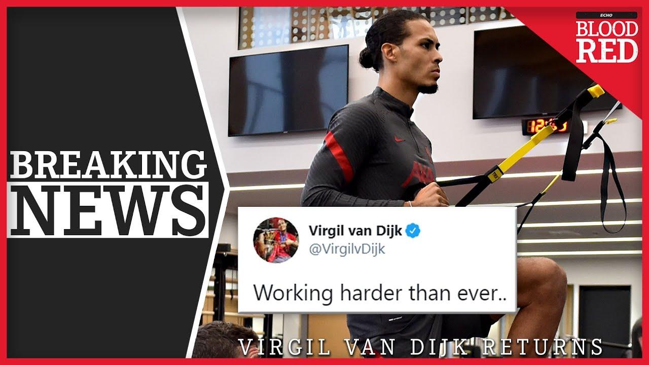 BREAKING: Virgil van Dijk Returns to Training Centre | Oxlade-Chamberlain, Shaqiri, Milner Boost