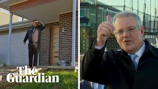 'Get off my lawn!' Homeowner interrupts Scott Morrison's homebuilder grants announcement