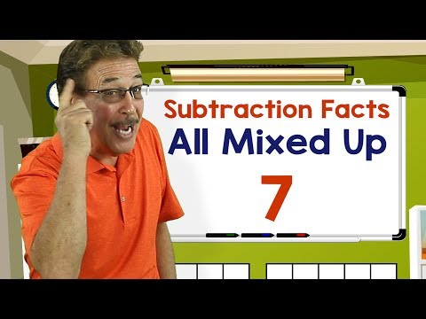 Subtraction Facts All Mixed Up 7 | Math Songs for Kids | Jack Hartmann