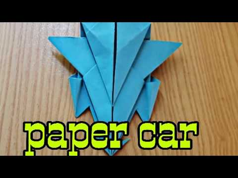 How to make a paper car-easy way
