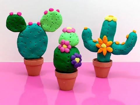 Play Doh How to Make Cactus