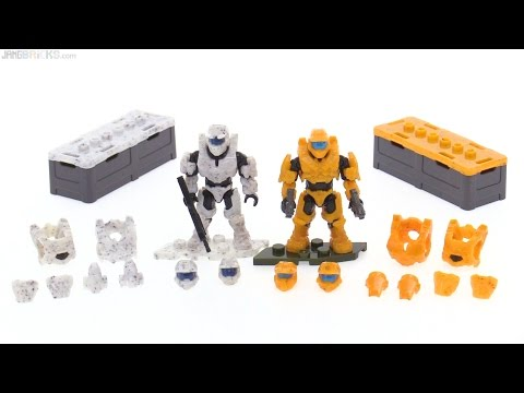 Mega Construx Halo Spartan Armor Customizer Pack II review!