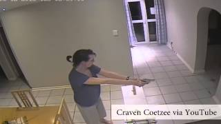 WATCH: Woman fires shots at home intruders