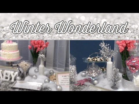 How to decorate a Winter Wonderland Candy/Dessert Buffet