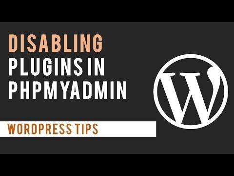 Disabling WordPress Plugins through PHP MyAdmin (database)