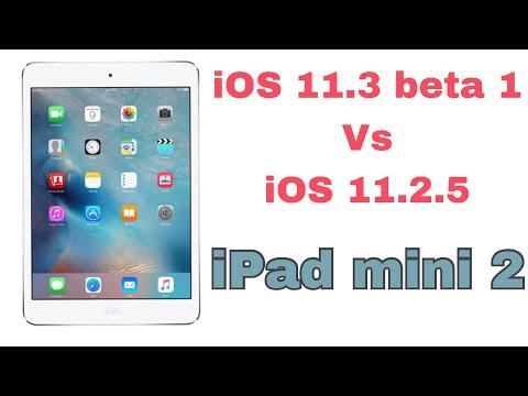 iOS 11.3 BETA 1 vs iOS 11.2.5 speed test on iPad mini 2 | TechViewer