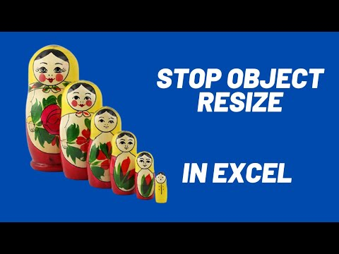 Excel Prevent Buttons, Shapes and Objects from Resizing - Excel Tricks