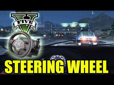 GTA 5 Night Driving with Steering Wheel, Pedals, Manual Gears, FFB Mods!