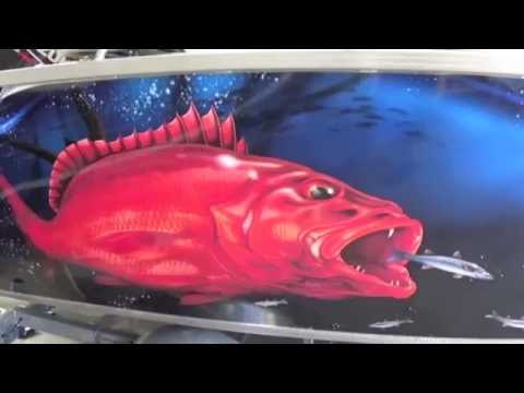 Boat Wrap Graphics - Aluminium Plate Boat Wrap - Graphic Wraps - HP 360 Latex Printer