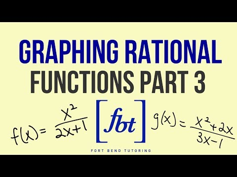 🎓Graphing Rational Functions Part 3: Slant Asymptotes (Oblique Asymptotes) [fbt]