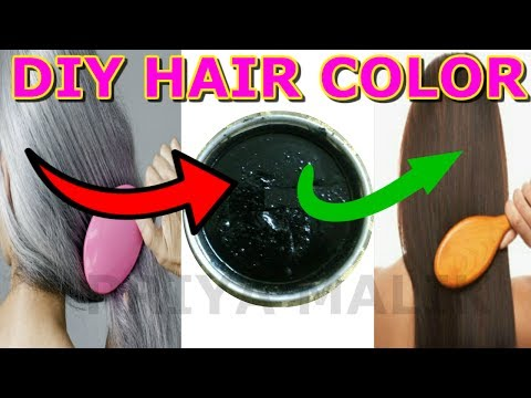 TURN WHITE HAIR TO BLACK PERMANENTLY WITH HOMEMADE HAIR COLOR/DYE || PRIYA MALIK