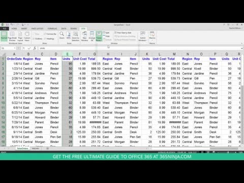 How to freeze/lock rows and columns in Excel