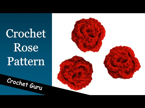 How to Crochet a  Rose - Rose Flower Pattern