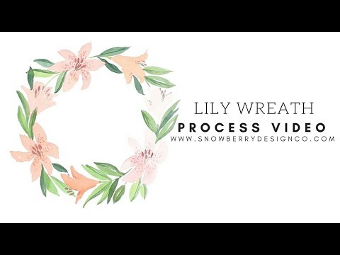 Lily Wreath   Process Video