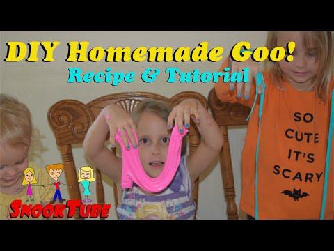 DIY Homemade goo or gak recipe and tutorial. Easy!