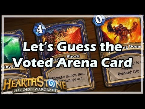 [Hearthstone] Let's Guess the Voted Arena Card!