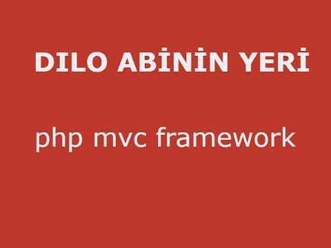 php oop mvc uygulaması - ders 18