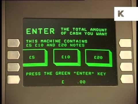 1990s NatWest Cash Machine, Cashpoint, ATM, London