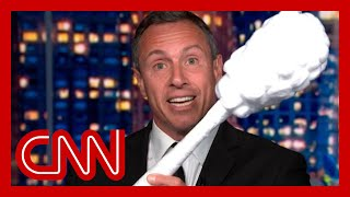Chris Cuomo teases brother Andrew with giant test swab