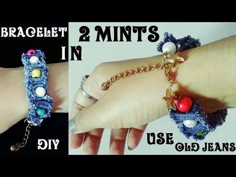 DIY Cool Denim Bracelet | Recycle old jeans