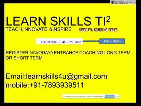 NAVODAYA ENTRANCE COACHING LEARN SKILLS 4U