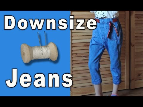 How to Downsize Jeans for a GIRL, How to Make Skinny Jeans from Flare