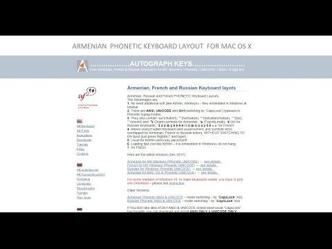 Armenian Phonetic Keyboard Layout for MAC OS X - ի համար Հայերեն ստեղնաշար (KDWin-ի դասավորություն)