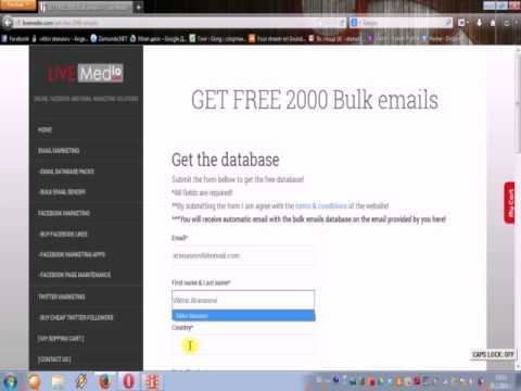MAILING LIST - GET FREE EMAIL ADDRESS LIST  - Live Medio