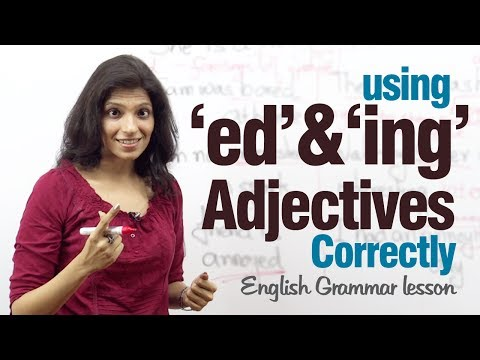 Using 'ed' and 'ing' adjectives correctly - English Grammar lesson