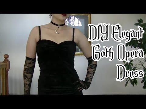 DIY Elegant Goth Opera Dress