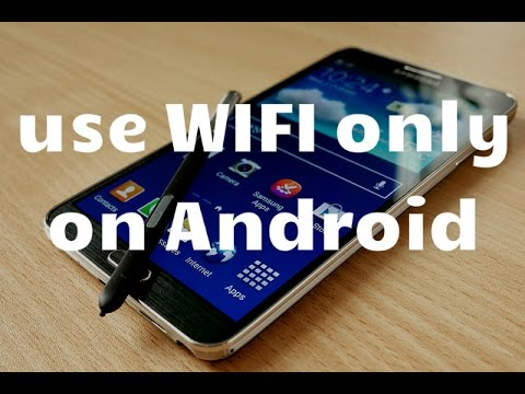 How to use wifi only, disabling internet data connection / 3g, on: Android, Blackberry and Iphone