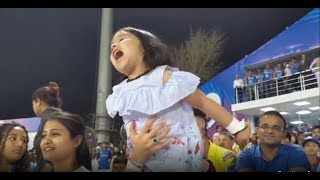 IPL 2019 - Ziva Dhoni Cheering  For 'PAPA' | Watch CSK Cake Shower Moment after Winning a Match